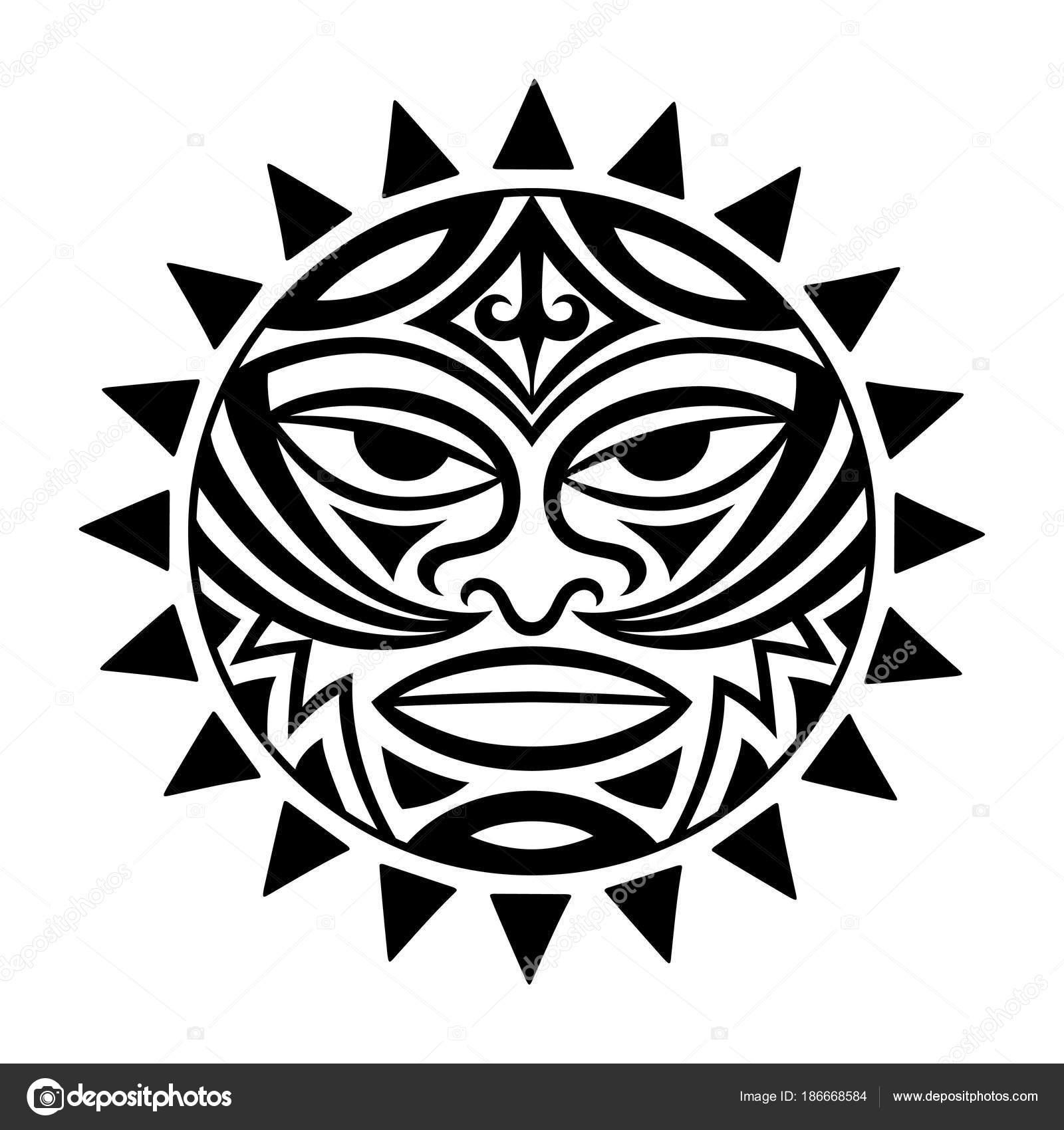 Imágenes Simbolos Mayas De Proteccion Máscara Símbolo étnica Del