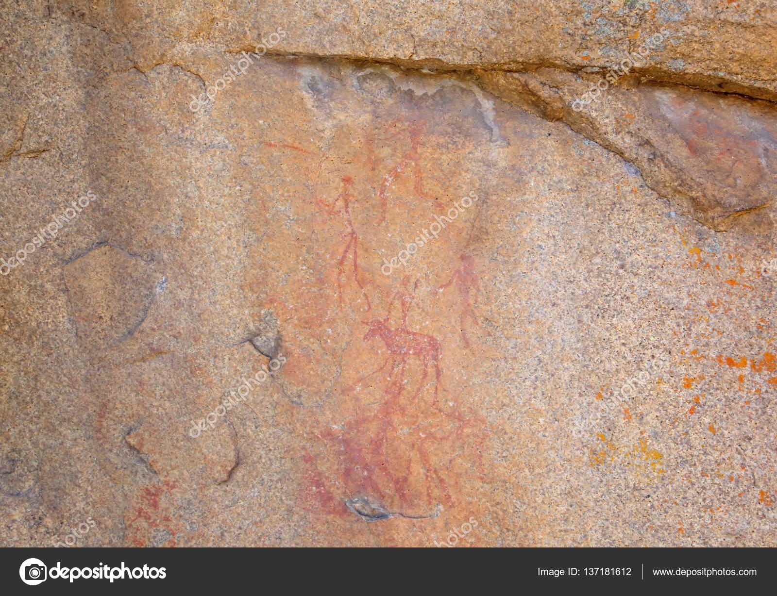 Jeskynni Kresby V Zimbabwe Stock Fotografie C Yurybirukov 137181612