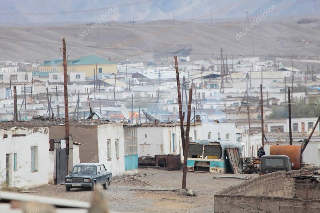 village Murgab in Pamir Mountains