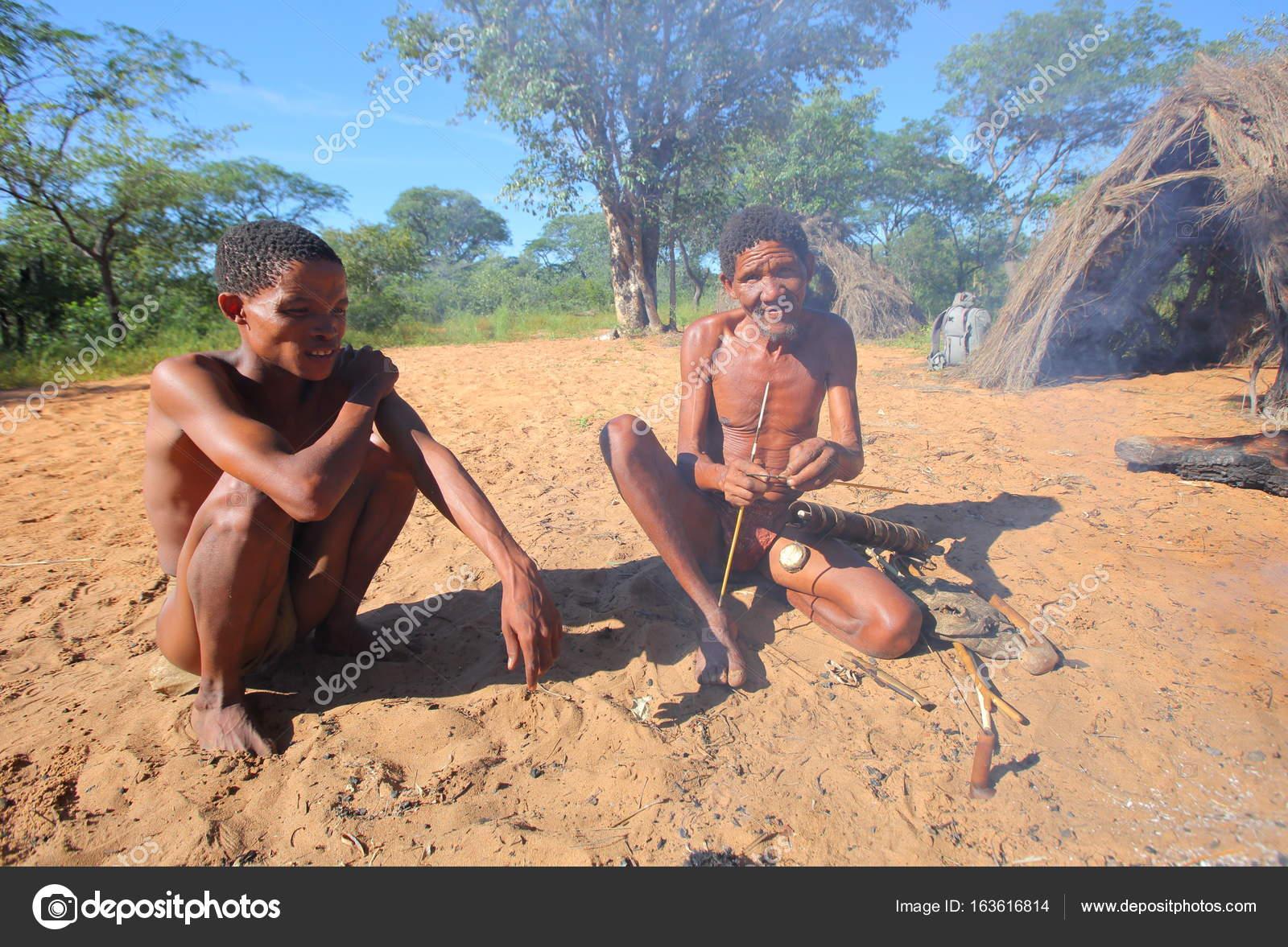 san bushmen of the kalahari desert