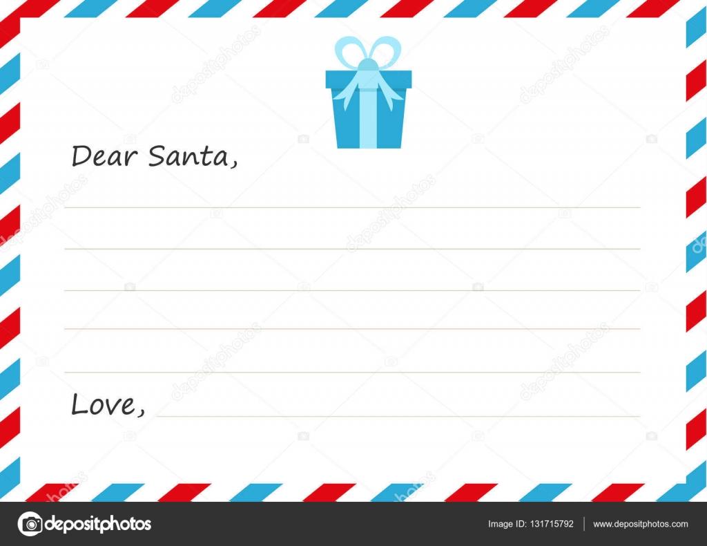 Umschlag Silvester Briefvorlage An Den Weihnachtsmann Vektor