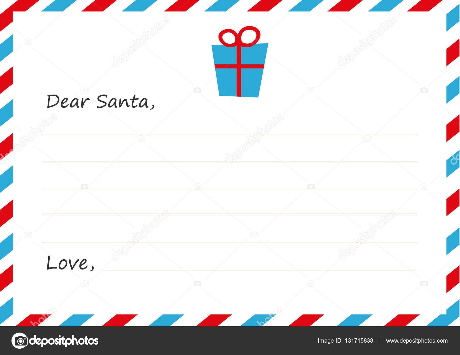 テンプレート封筒新年の手紙サンタ クロースアイコンの贈り物です