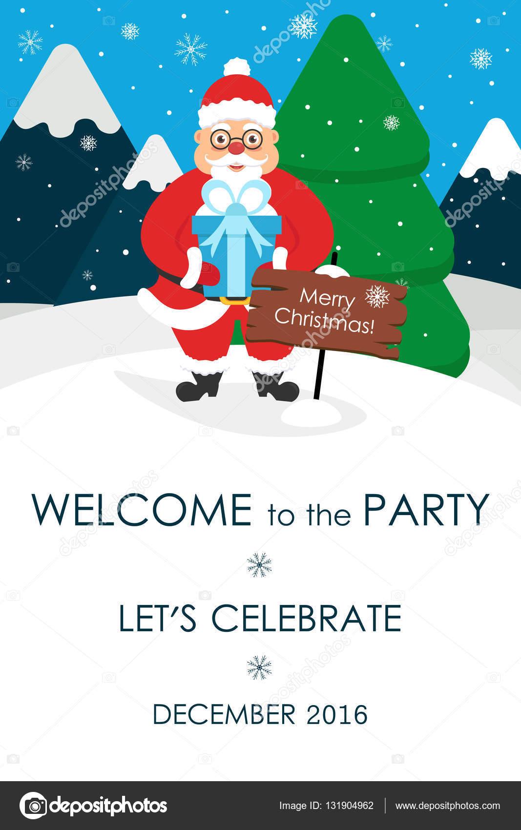 Christmas Party Einladung. Platz für Ihre SMS-Nachricht. Grußkarte ...