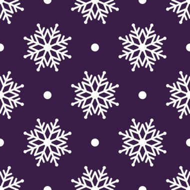 Beautiful seamless background for Merry Christmas or New year. White snow-flakes on a background.