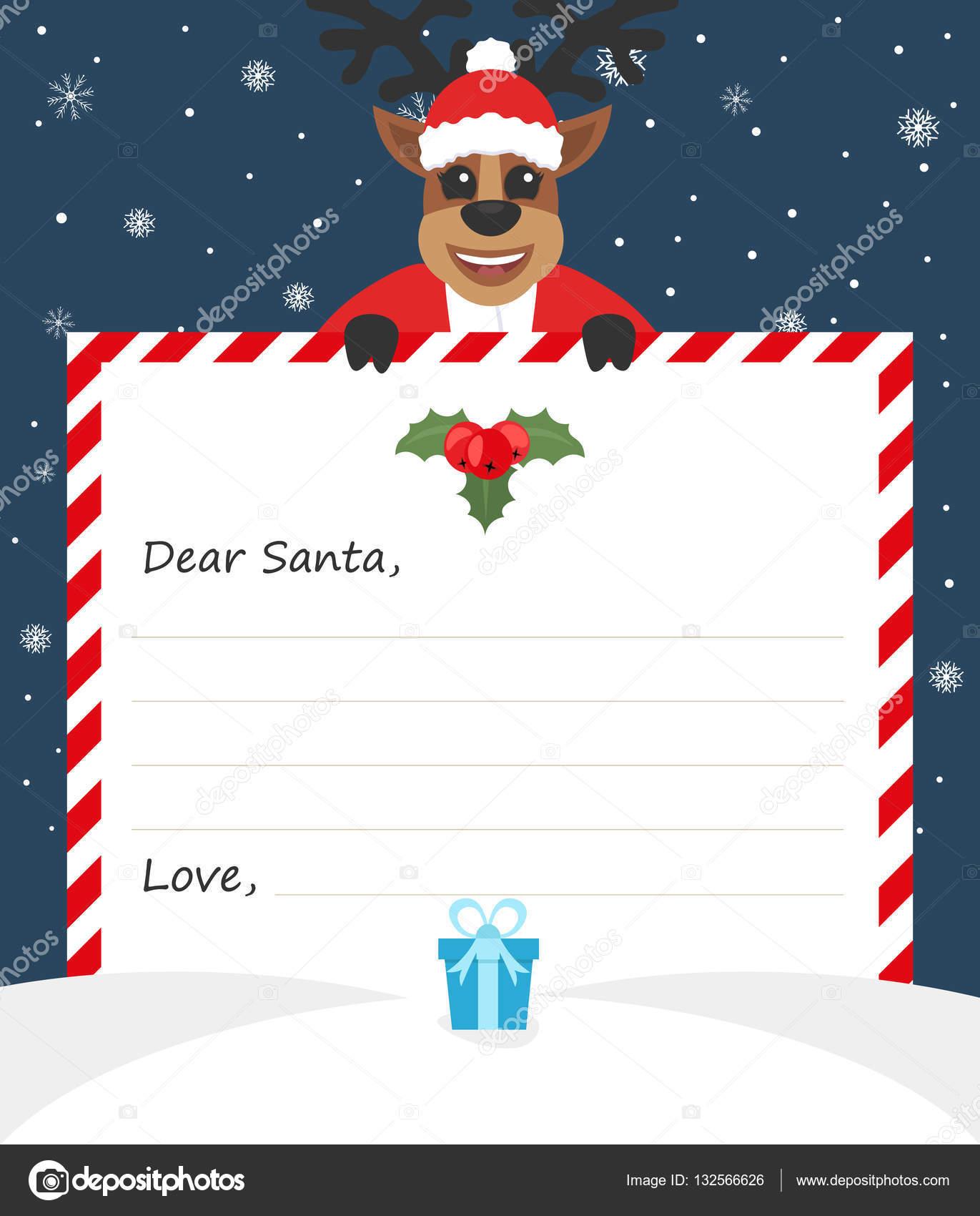 Letra de plantilla sobre fin de año a lindo Santa Claus con el icono ...