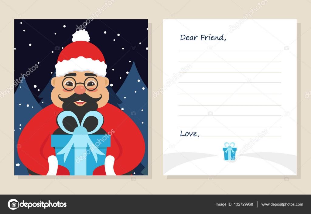 Grusskarte Frohe Weihnachten oder Silvester Briefvorlage, lieber ...