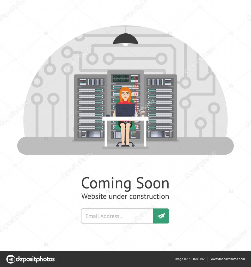 Girl system administrator. Website is under reconstruction. Website ...