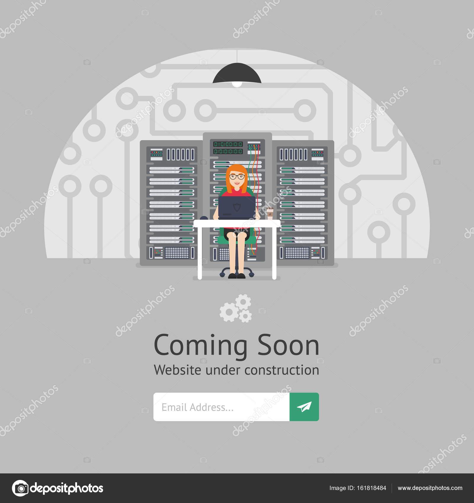 Sitio web está en reconstrucción. Administrador del sistema de chica ...