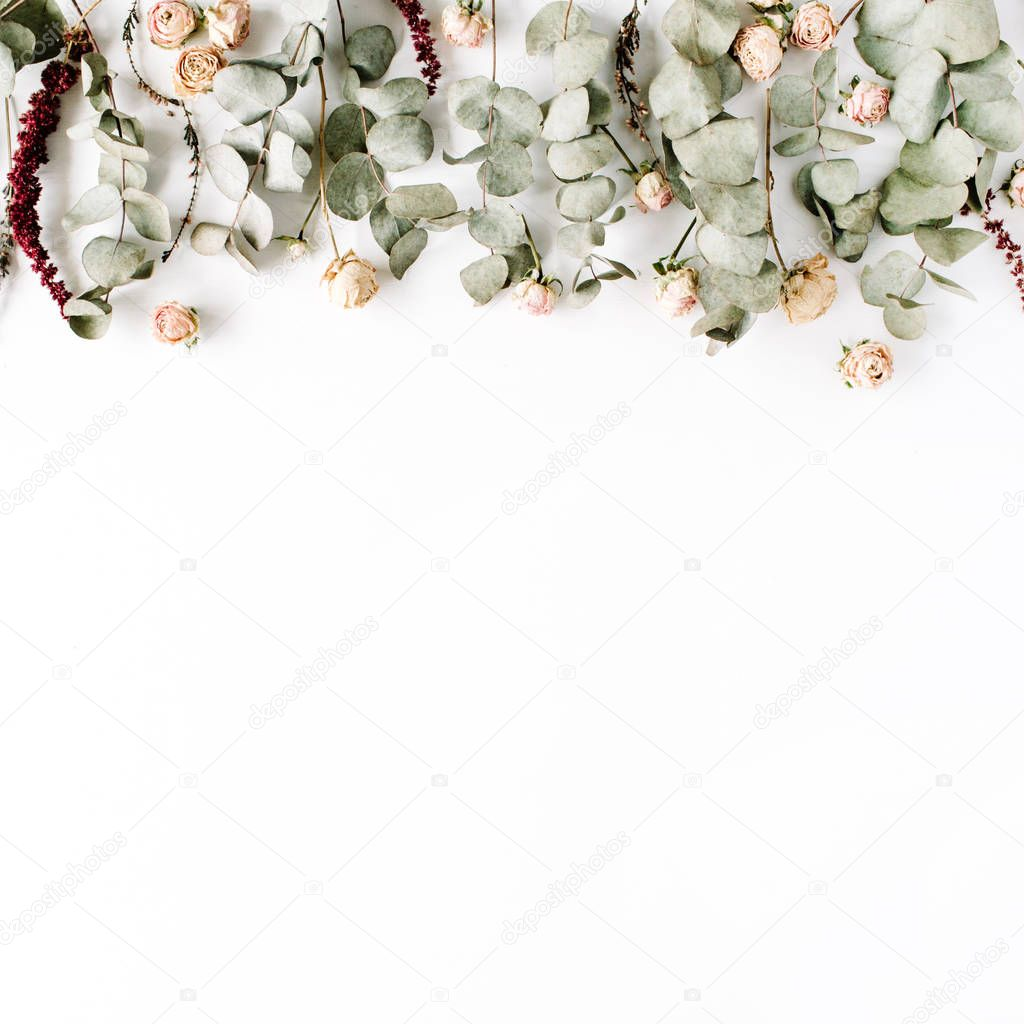 Trendy minimal floral composition