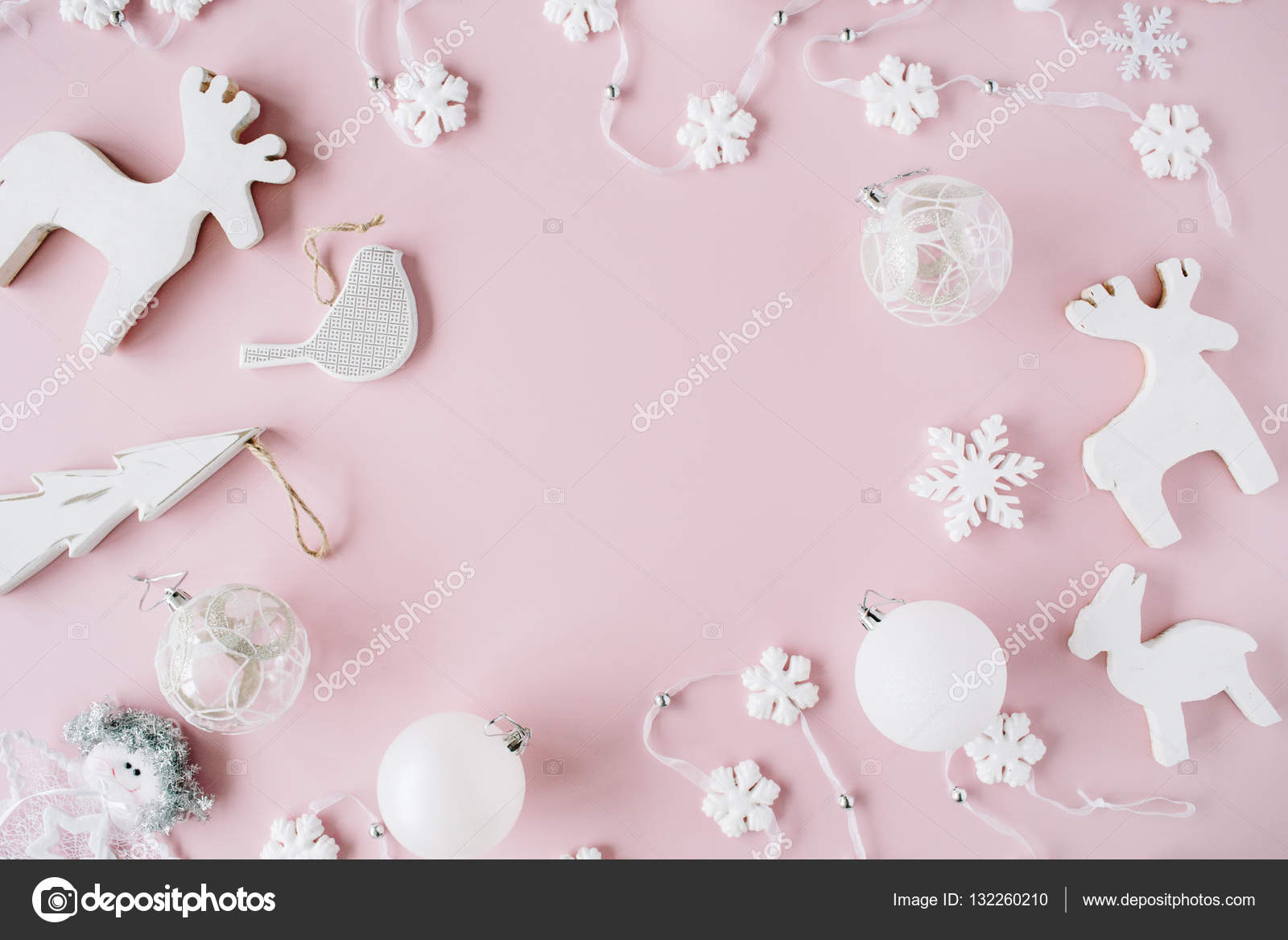 Trendy Creatiove Christmas Or New Year Composition Stock