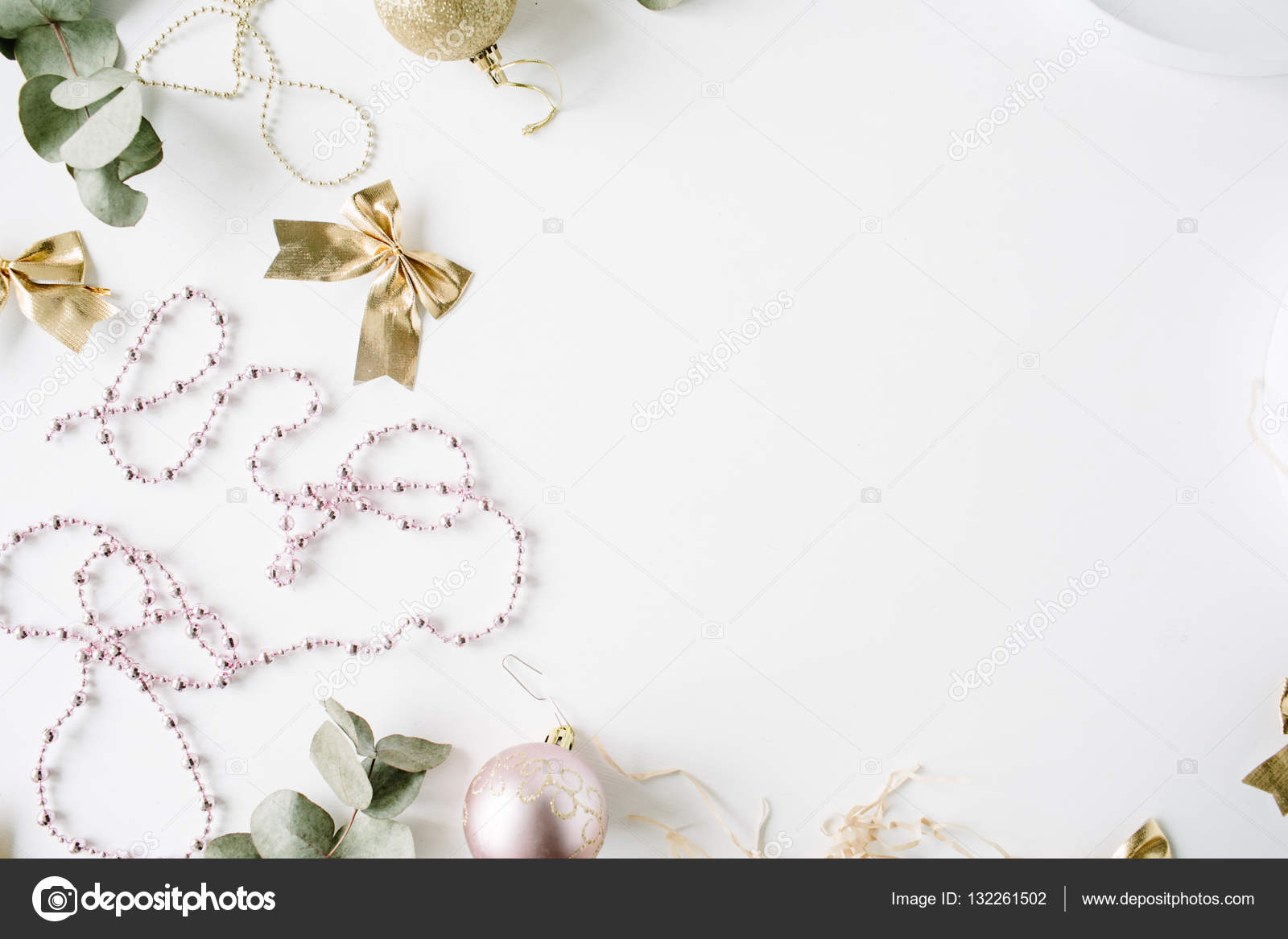 Trendy Christmas Or New Year Decoration Stock Photo