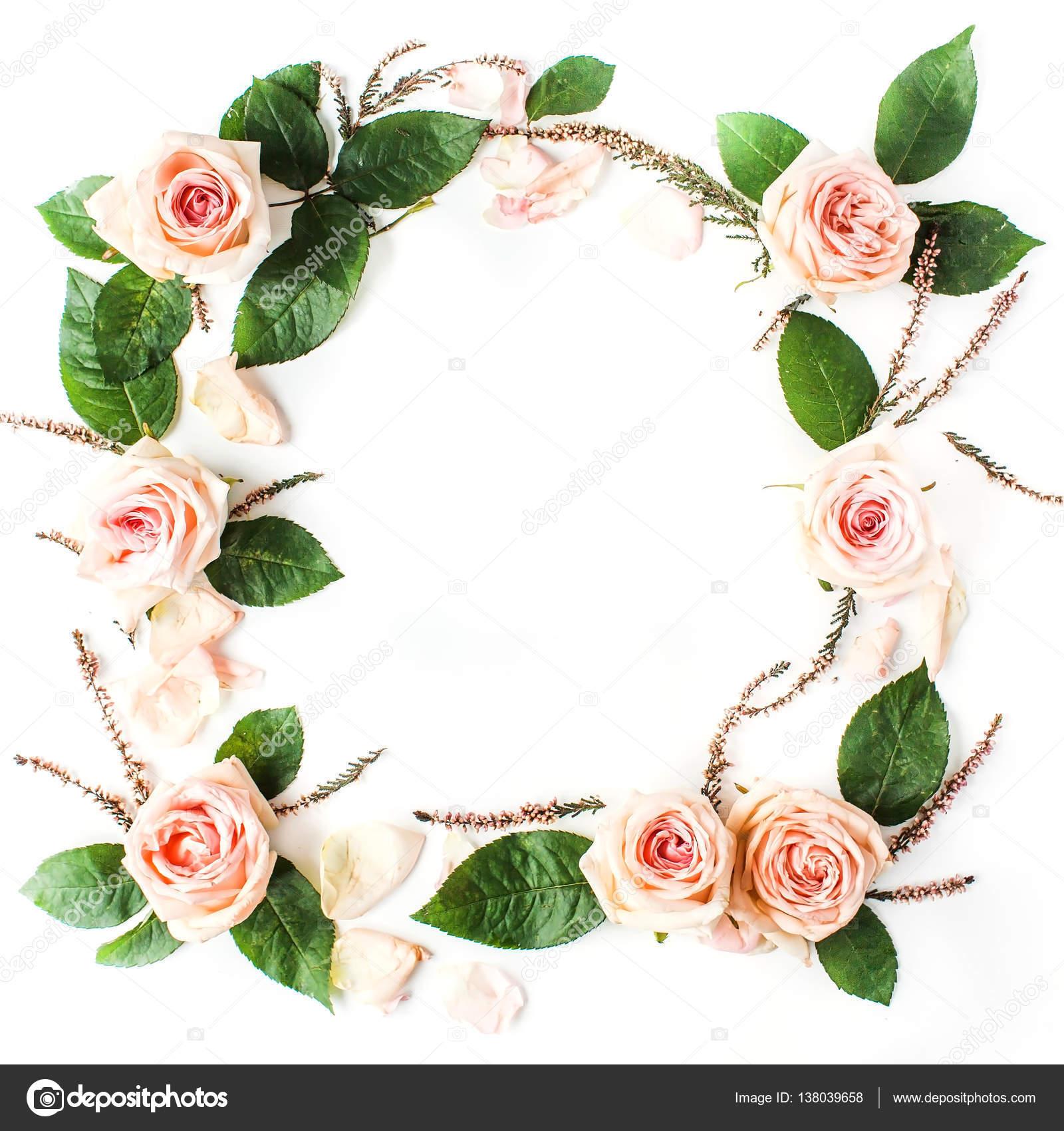 Rahmen aus rosa Rosen — Stockfoto © maximleshkovich #138039658