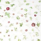 Fényképek Rózsaszín rózsák és a zöld levelek