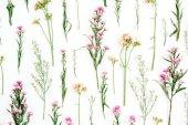 Fényképek Virágos minta rózsaszín és bézs színű vadvirágok