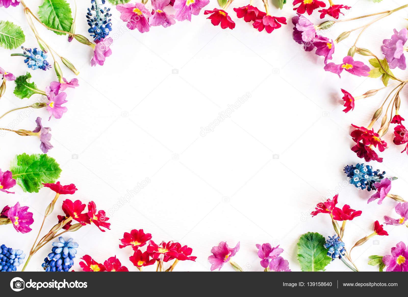 В цветах рамка