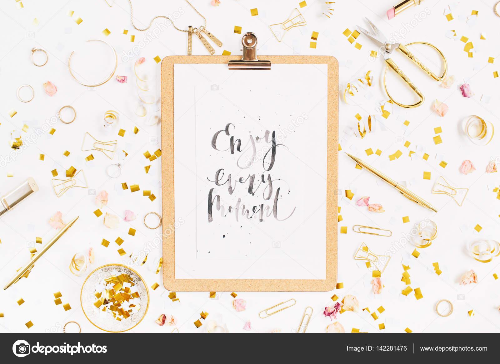 Fond De Blog Beauté Citation Profiter De Chaque Instant