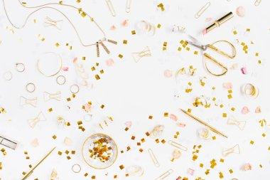 Gold style feminine accessories