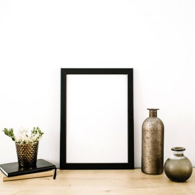 photo frame with trendy stuff
