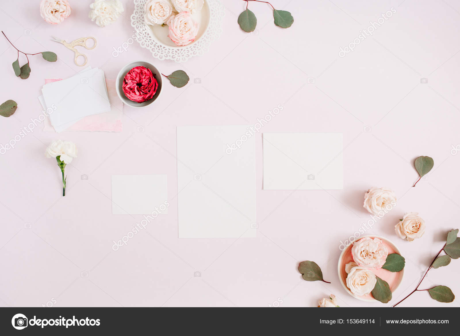 Wedding Invitation Cards Template Stock Photo C Maximleshkovich