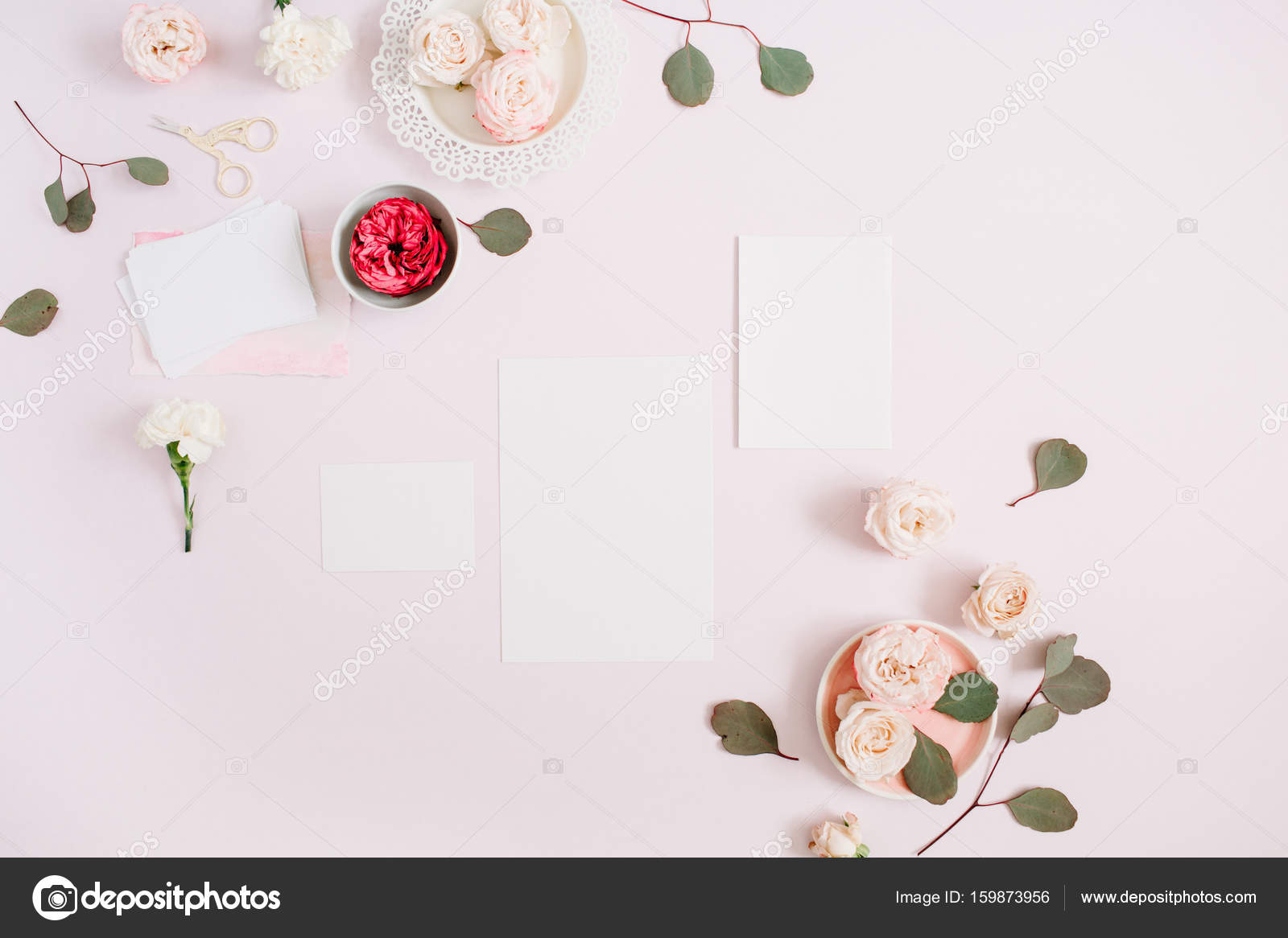 Wedding Invitation Cards Template Stock Photo