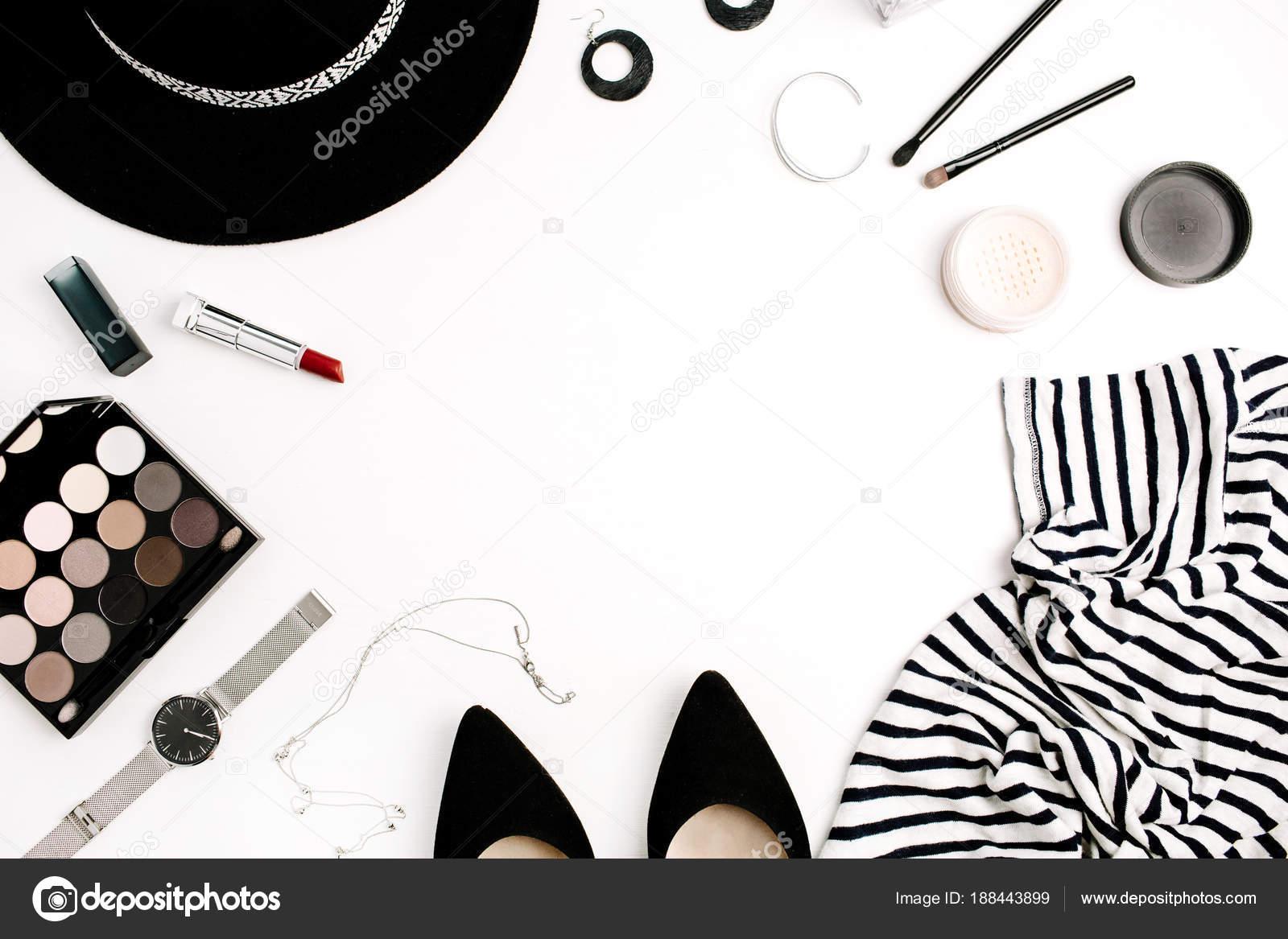 Frame Woman Fashion Modern Clothes Accessories Cosmetics Shirt Hat ...