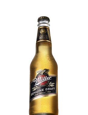 POLTAVA, UKRAINE, SEPTEMBER 30, 2016:Miller Genuine Draft is the original cold filtered packaged draft beer, a product of the Miller Brewing Company owned by SABMiller.