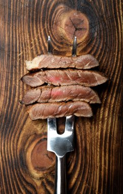 grilled pieces of steak