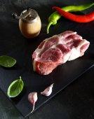 Fotografie syrové maso