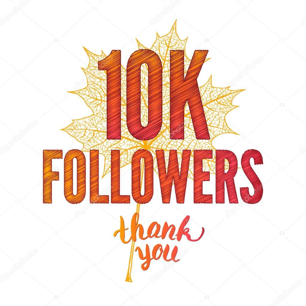 thank you 10k followers card rater stock photo artbusinka