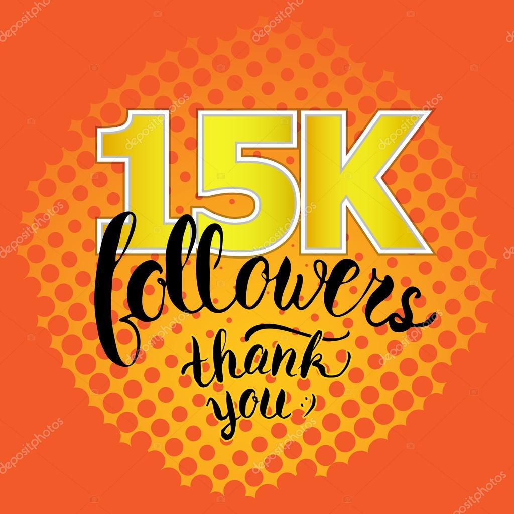 Imágenes Thanks You Thank You 15k Followers Card Raster Foto