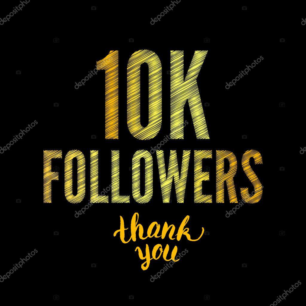 thank you 10k followers card raster stock photo artbusinka