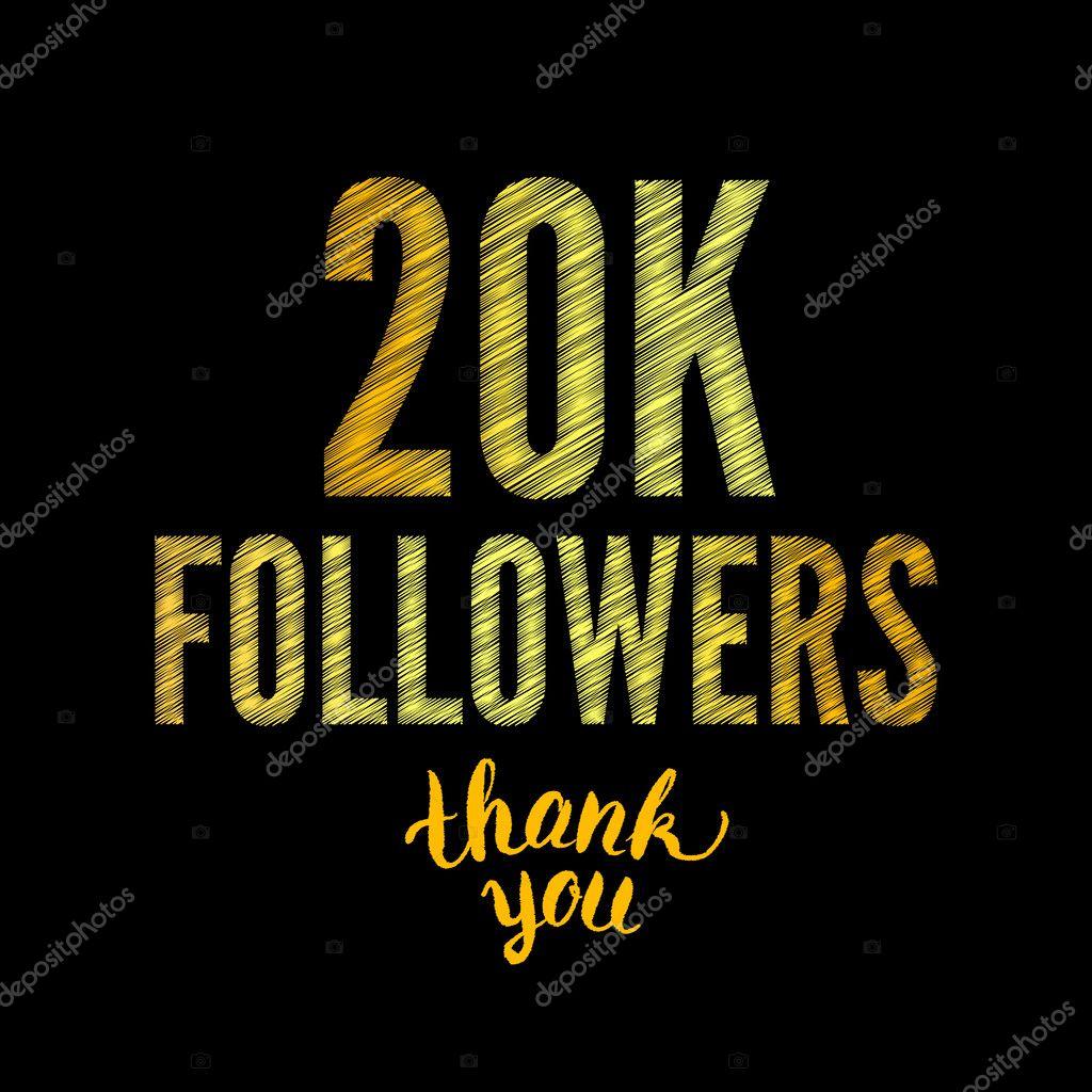 thank you 20k followers card raster stock photo artbusinka