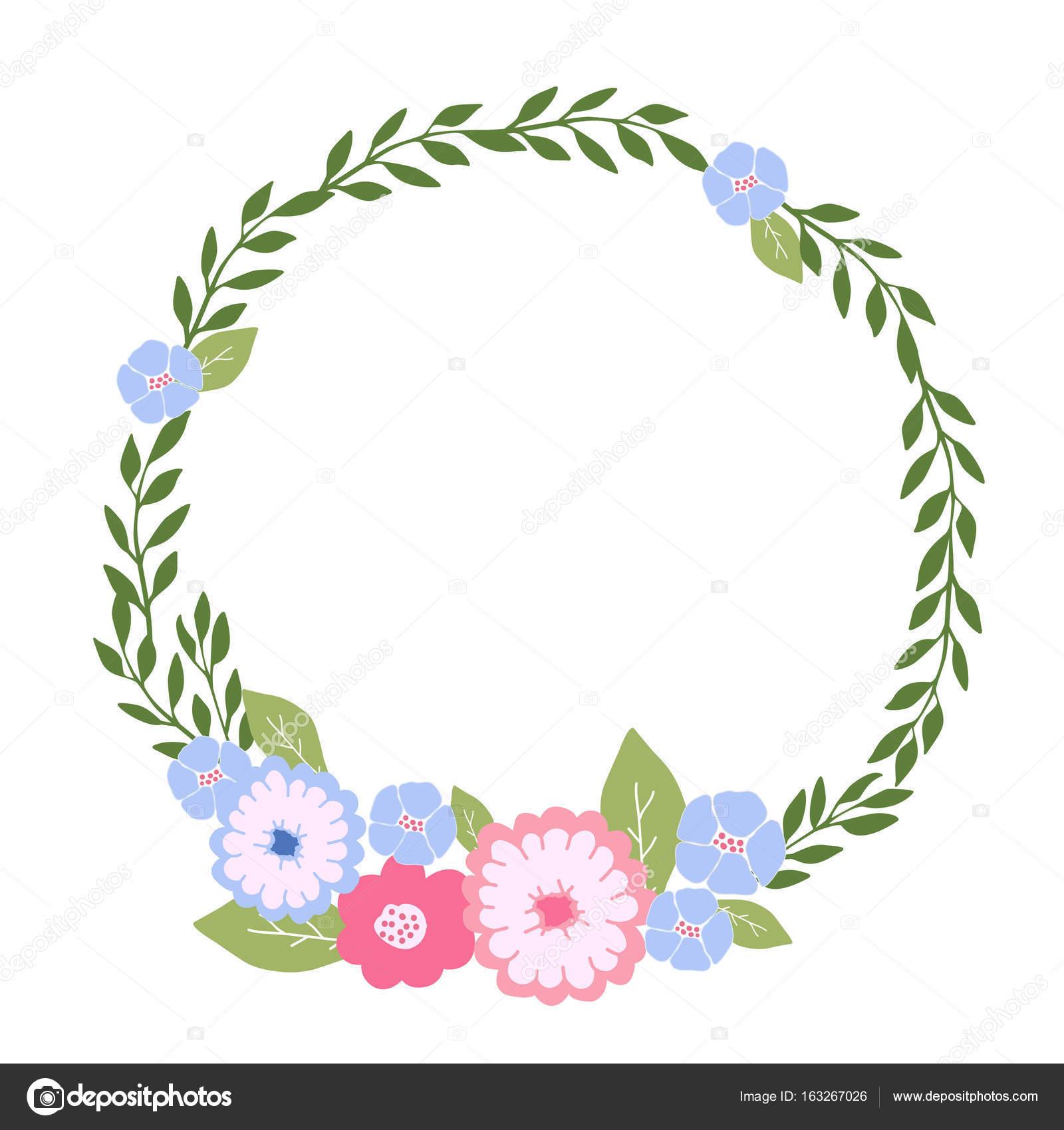 Vector Corona De Flores Png Guirnalda Floral Con Flores De