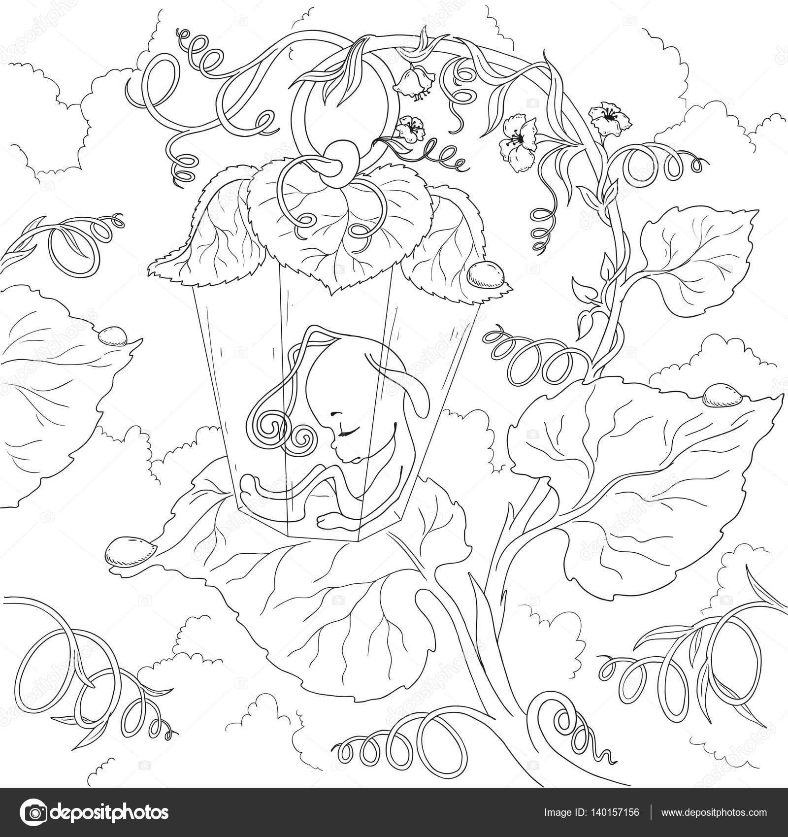 Peri çizgi Film Karakteri Ateş Böceği Peri Yapraklarında Uyuyor