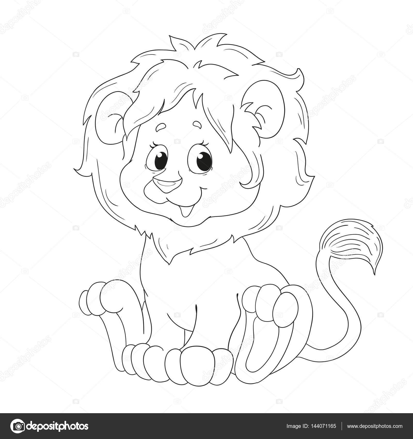 Animado Leon Dibujo Para Colorear Leon De Dibujos Animados Lindo