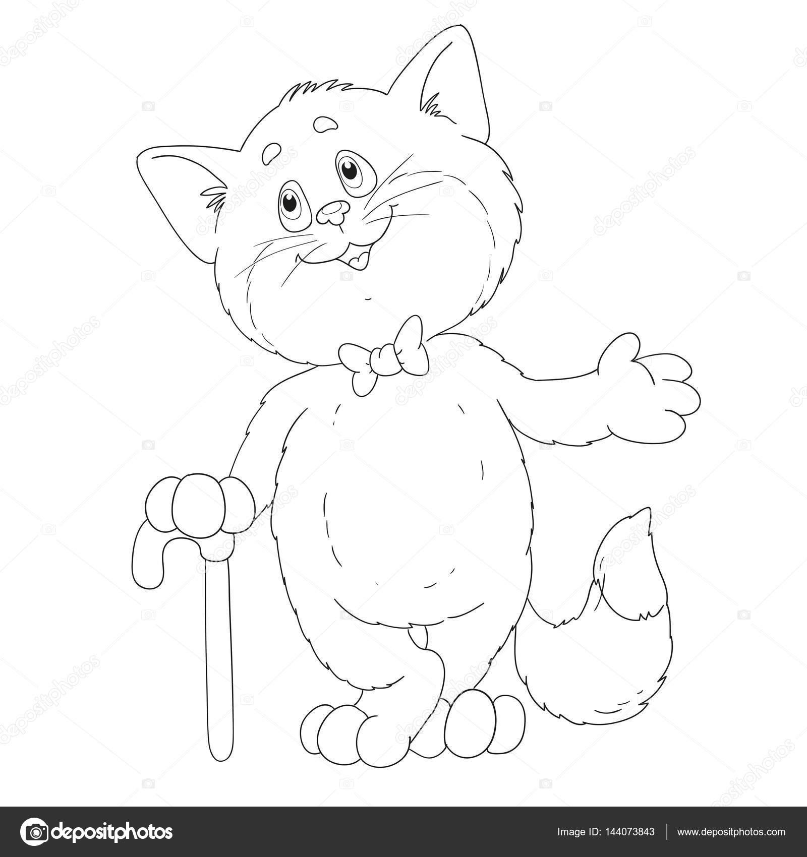 Lindo gato para colorear libro — Vector de stock © hibou-sun #144073843