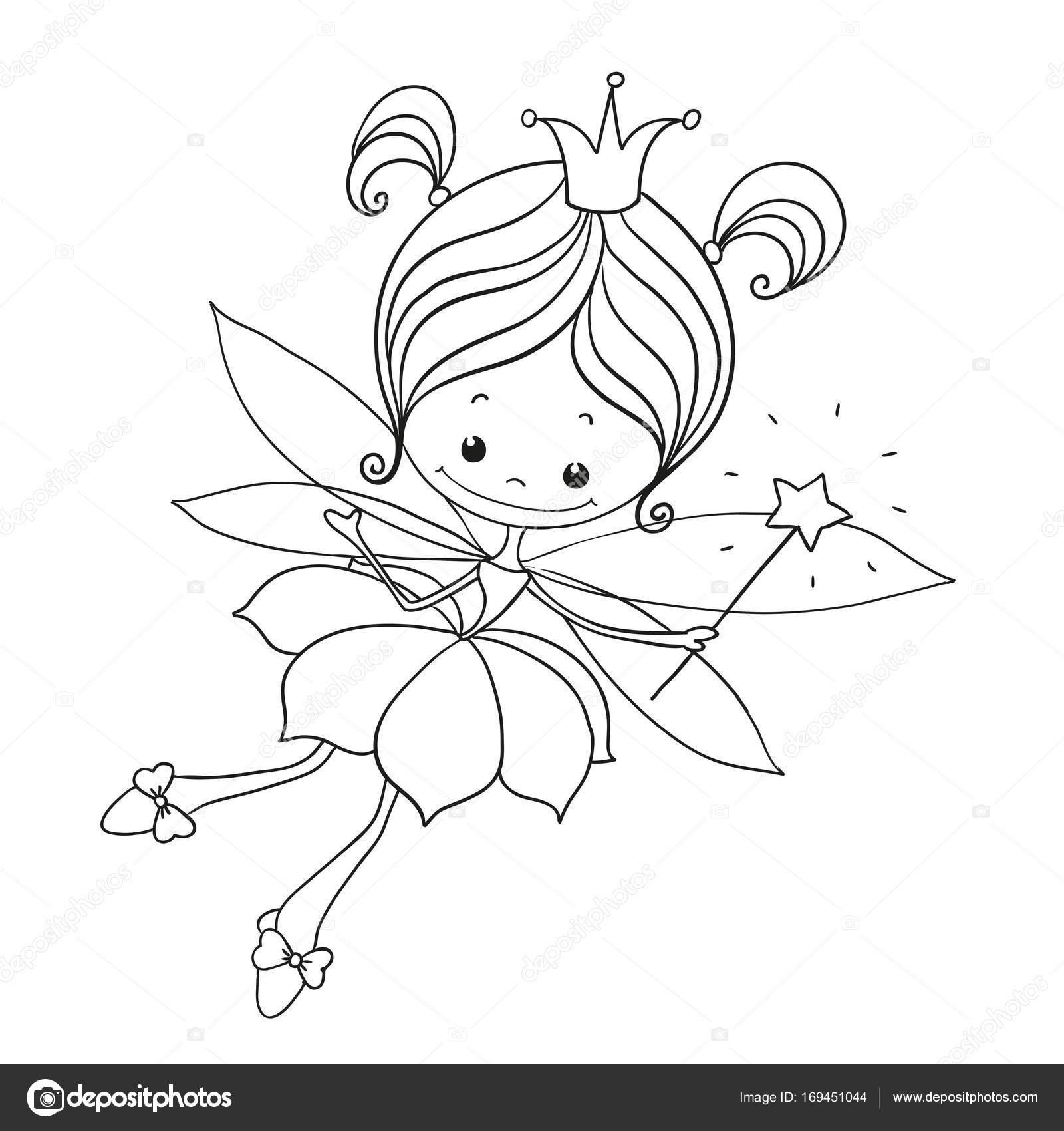 Imágenes Hadas Doodle Carácter Encantador Dibujos