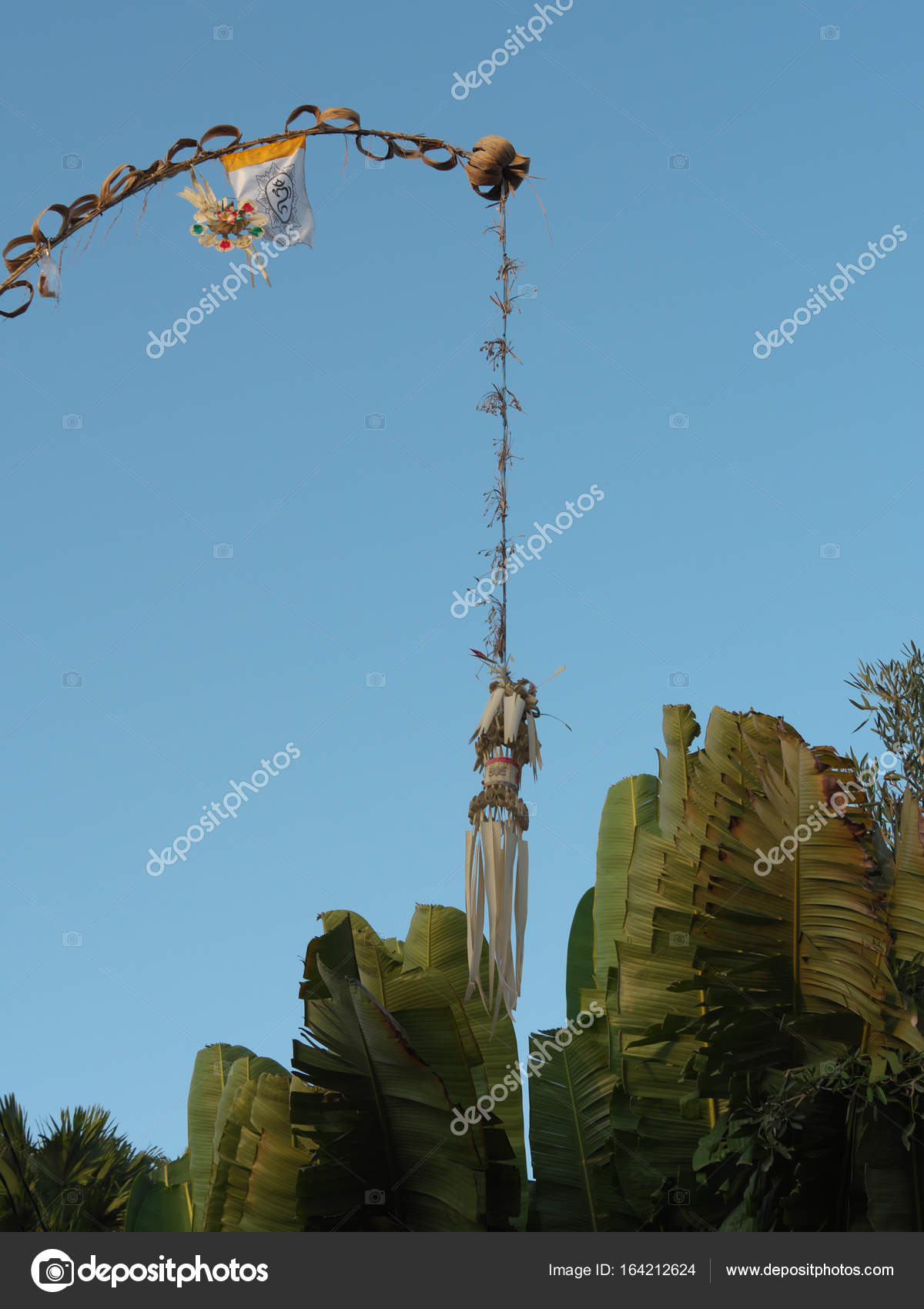 Penjor Symbol Of Thanks And Greatness Of God In Bali Stock Photo