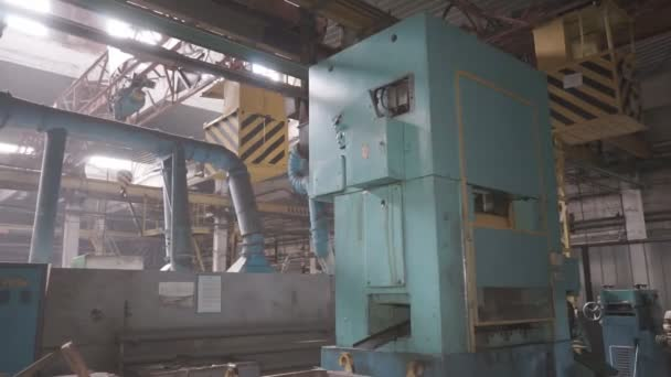 Strukturen und Teile von Werkzeugmaschinen im Schwermaschinenbau.