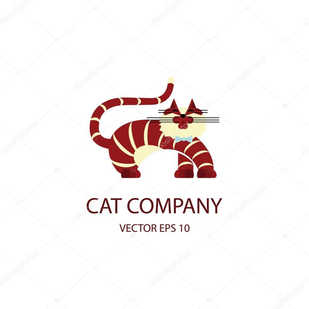 猫のロゴのテンプレート ストックベクター tatianastulbo gmail com