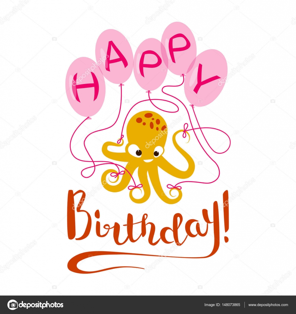 Happy Birthday Greeting Card Stock Vector C Tatianastulbo Gmail