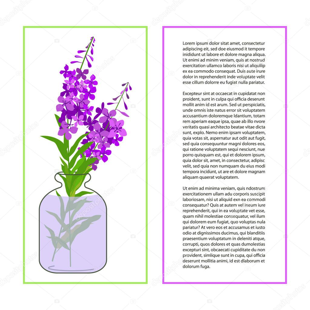 Card with Fireweed Flower