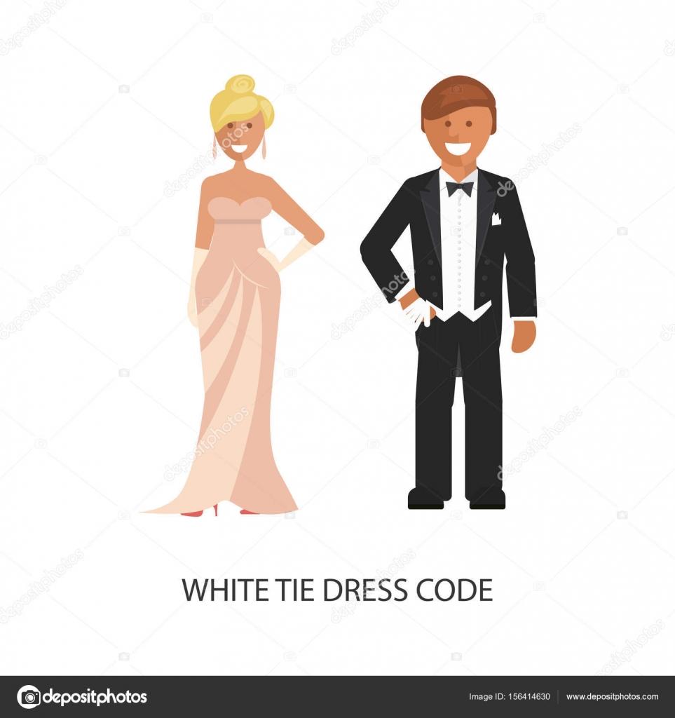 Weiße Krawatte Dresscode — Stockvektor © tatianastulbo.gmail.com ...