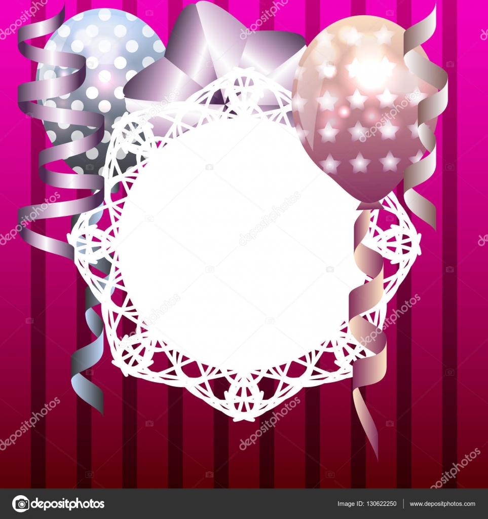 Stilvolle Vorlage für Einladung, Geburtstagskarte mit weißem Rahmen ...