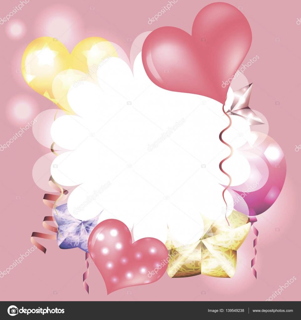 Vorlage für Einladungen, Valentinstag Karten mit weißer Rahmen, b ...