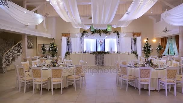 Interior of a wedding hall decoration ready for guestsautiful interior of a wedding hall decoration ready for guestsautiful room for ceremonies and weddings junglespirit Image collections