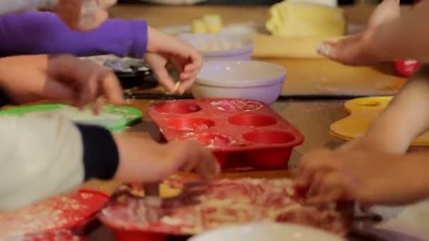Kinder Masterclass Kochen Leckeres Geback Nahaufnahme Von Den