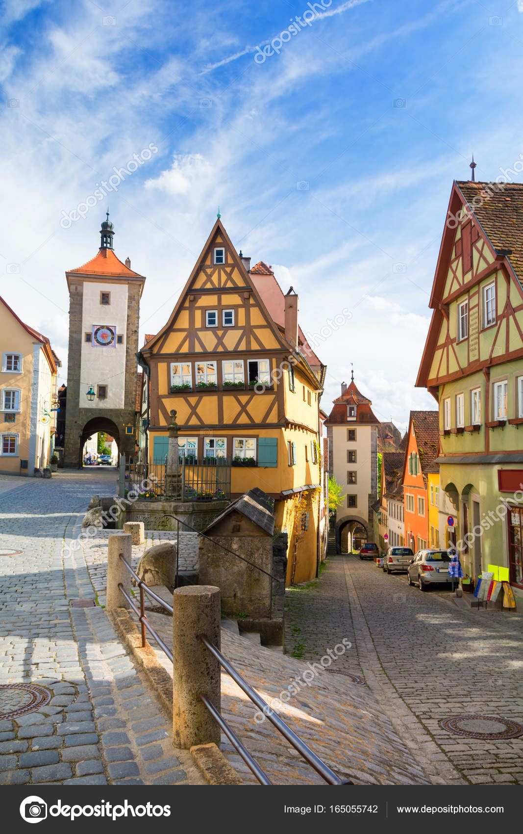 medieval town rothenburg ob der tauber bavaria germany ストック