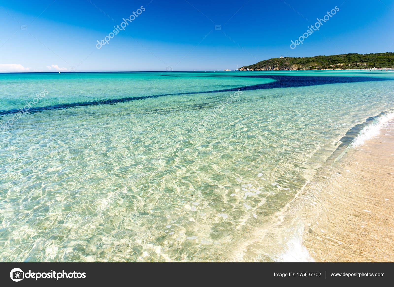 Kristal Helder Water Pampelonne Strand Buurt Van Saint Tropez Franse