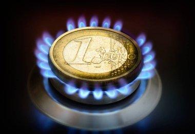 bir euro üzerinde bir gaz meşale sikke.